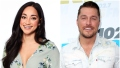 Bachelor Contestant Victoria Ruller Smiles in Flowered Crop Top Split Image With Bachelor Chris Soules in Button Down Shirt