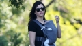 Jenna Dewan walking with her new son Callum