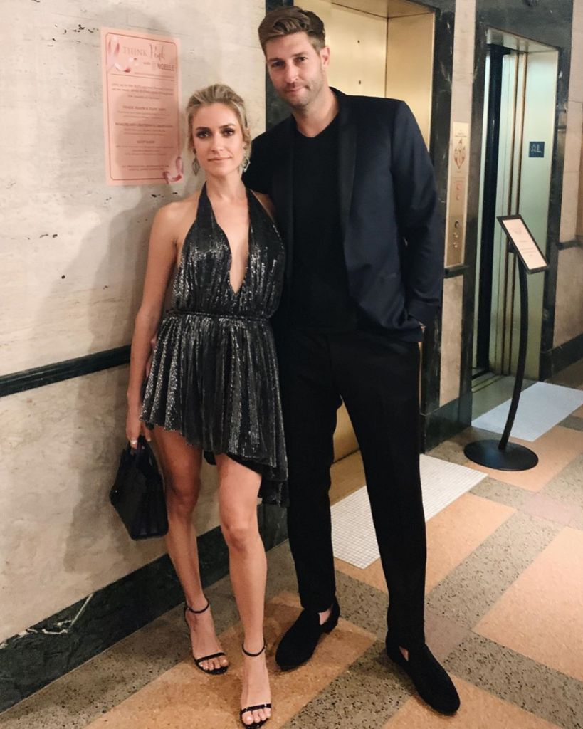 Kristin Cavallari Wears Sparkly Black Dress with Ex Husband Jay Cutler in All Black Suit