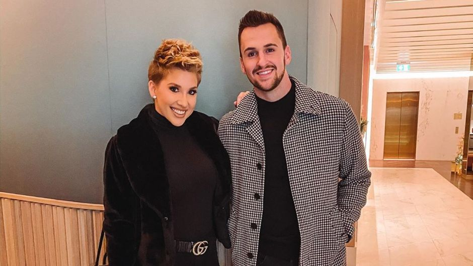 Savannah Chrisley Wears All Black Outfit With fiance Nic Kerdiles in Black Outfit and Checkered Coat