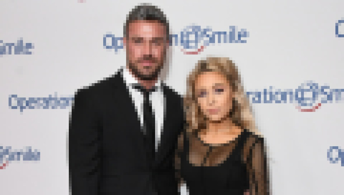 Bachelor Nation Alum Chad Johnson Wears Black Suit With Arm Around Ex Girlfriend Annalise Mishler