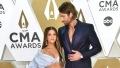 Maren Morris Wears Two Piece Blue Gown at CMA Awards With Husband Ryan Hurd in Blue Suit