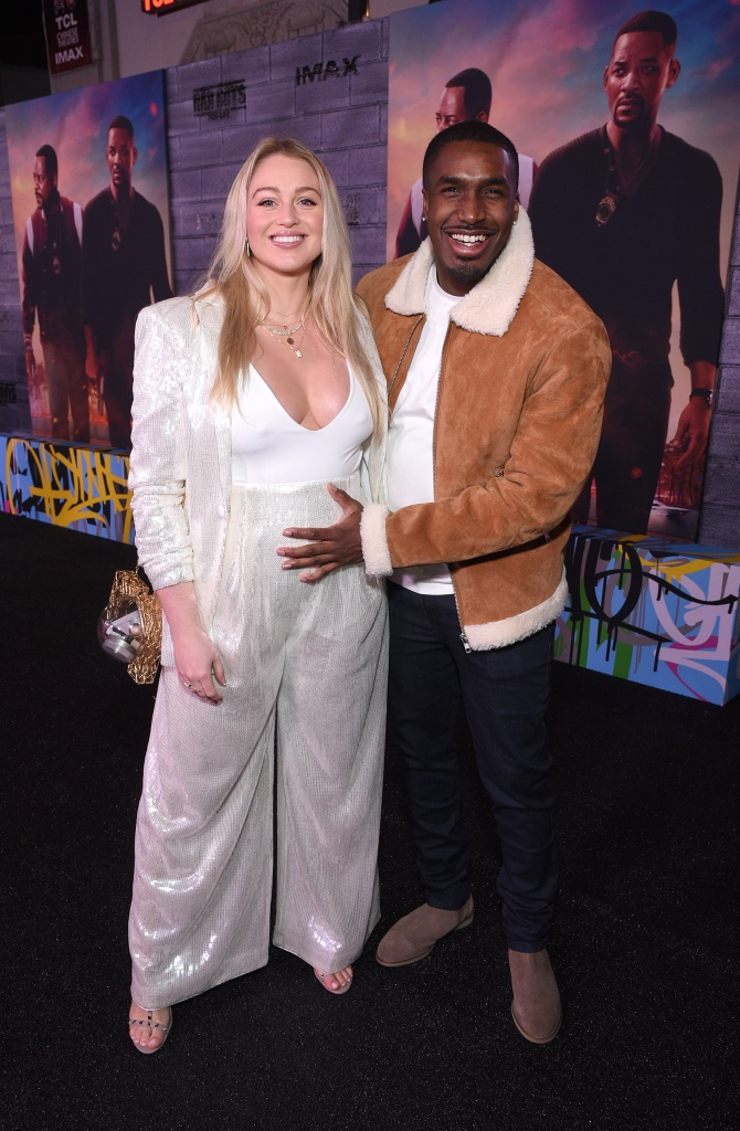 Pregnant Iskra Lawrence Wears All White While Boyfriend Philip Payne Holds Baby Bump