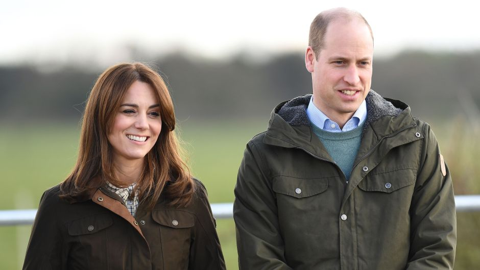 Kate Middleton and Prince William Smile Outside Wearing Green Coats
