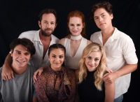 Luke Perry, K.J. Apa, Madelaine Petsch, Camila Mendes, Cole Sprouse and Lili Reinhart Riverdale Cast Photo 2016