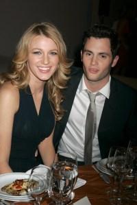 Blake Lively Smiles in Black Dress With Ex Boyfriend Penn Badgley