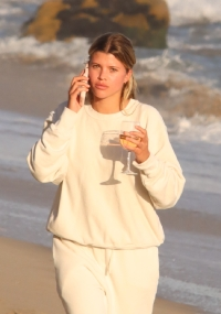 sofia-richie-scott-disick-malibu-beach-hershula-quarantine