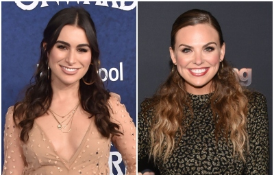 Bachelor Alum Ashley Iaconnetti Wears Nude Dress With Sheer Star Cover Bachelorette Hannah Brown Wears Cheetah Print Sparkly Dress With Hair Half up