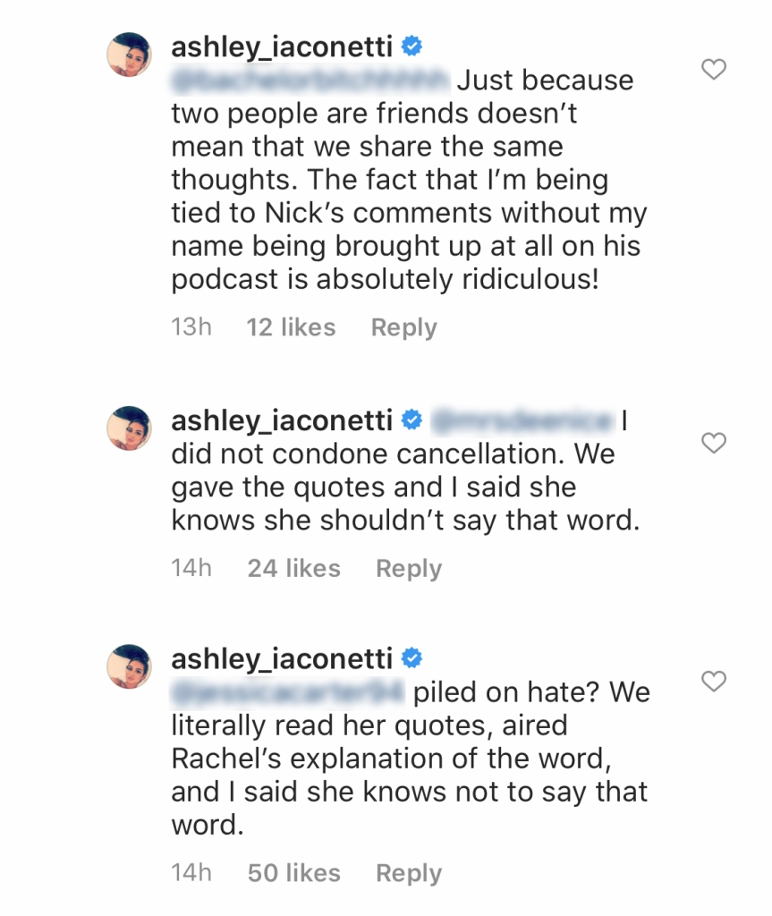 Bachelor Nation Alum Ashley Iaconetti Responds to People Who Said She 'Canceled' Hannah Brown