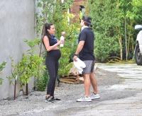 Pregnant Lea Michele Baby Bump on Walk With Husband Randy Zeich