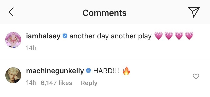 Halsey IG Comments
