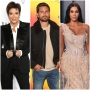 Kris jenner Wears Black Suit Scott Disick Wears Black Bomber Jacket and Jeans Kim Kardashians Frayed Nude Gown Oscars Party