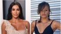 Kim Kardashian Wears White Deconstructed Dress at Vanity Fair Oscars Afterparty Her Personal Trainer Melissa Alcantara Wears Black Good American Workout Outfit