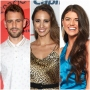 Bachelor Nick Viall Wears White Polo Shirt Vanessa Grimaldi Smiles in Silk cheetah Print Dress Bachelor Contestant Madison Prewett Headshot in Blue Silk Top and Gold Earrings