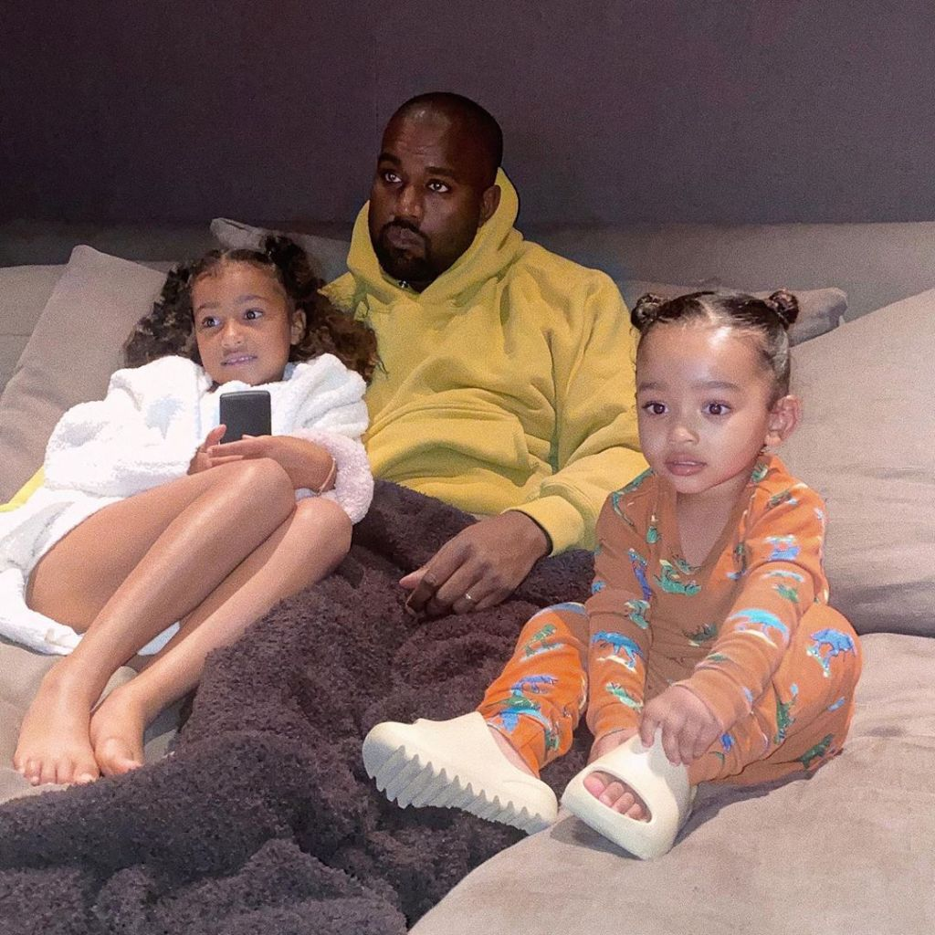 North West, Kanye West, Chicago West Snuggling