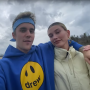 Justin Bieber Wears Blue Drew Hoodie and Bandana Holds Hands With Wife Hailey Baldwin While Walking Outside