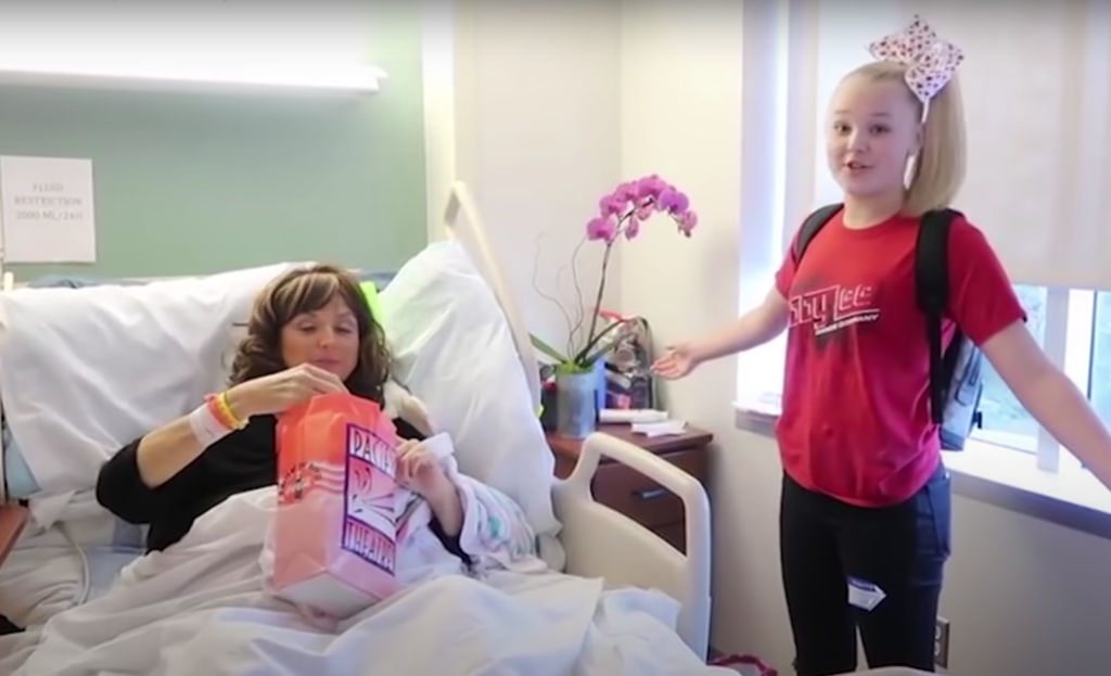 jojo siwa visits abby lee miller in the hospital