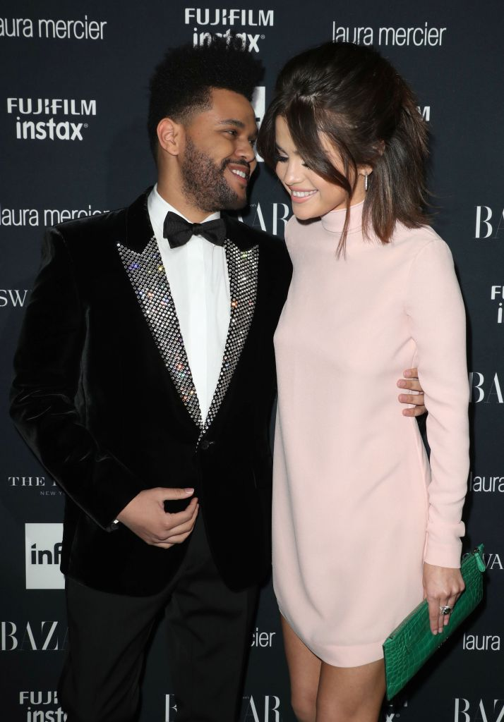 Selena Gomez and The Weeknd at Harper's Bazaar Icons Party 2017