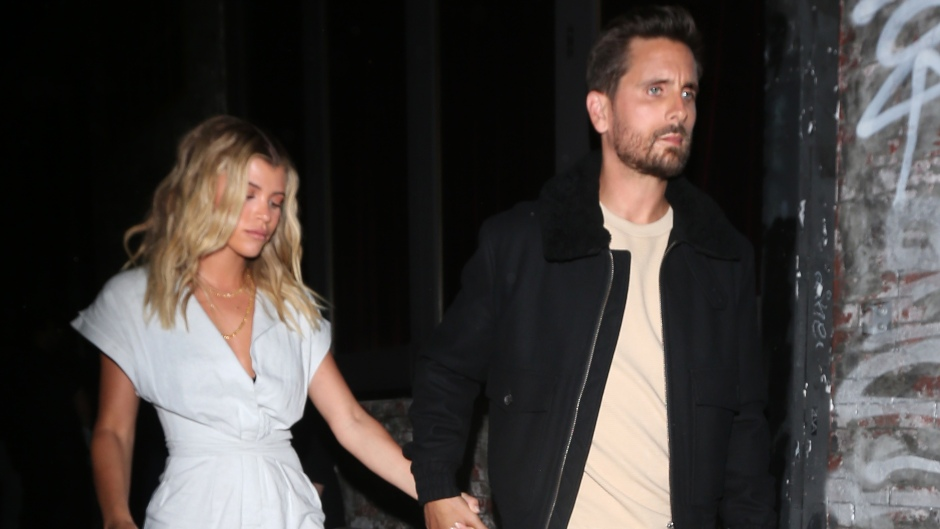 Scott Disick and Sofia Richie walk hand in hand as they leave the No Name Club