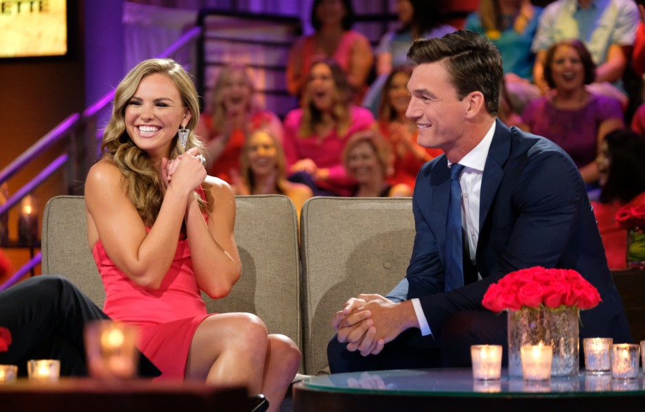 Hannah Brown Laughs With Tyler Cameron on The Bachelorette After the Final Rose