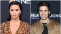 Demi Lovato Wears Cheetah Print Sheer Dress Her Boyfriend Max Ehrich Smiles in Tan Jacket and Black Tshirt