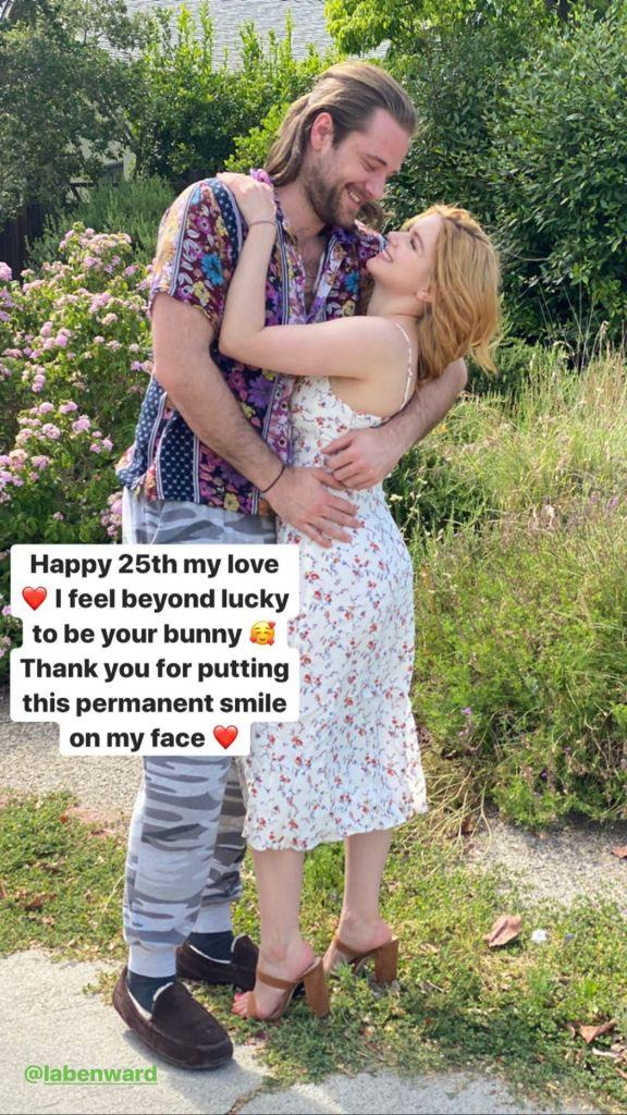 Ariel Winter Wears Flowered Dress and Hugs Boyfriend Luke Benward for His 25th Birthday