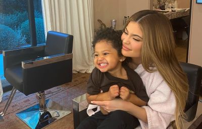 Kylie Jenner Smiles and Hugs Daughter Stormi Webster