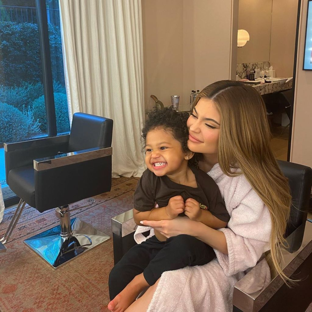 Kylie Jenner Hugs Daughter Stormi Webster With Curly Hair