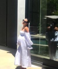 Pregnant Lea Michele Shows Baby Bump