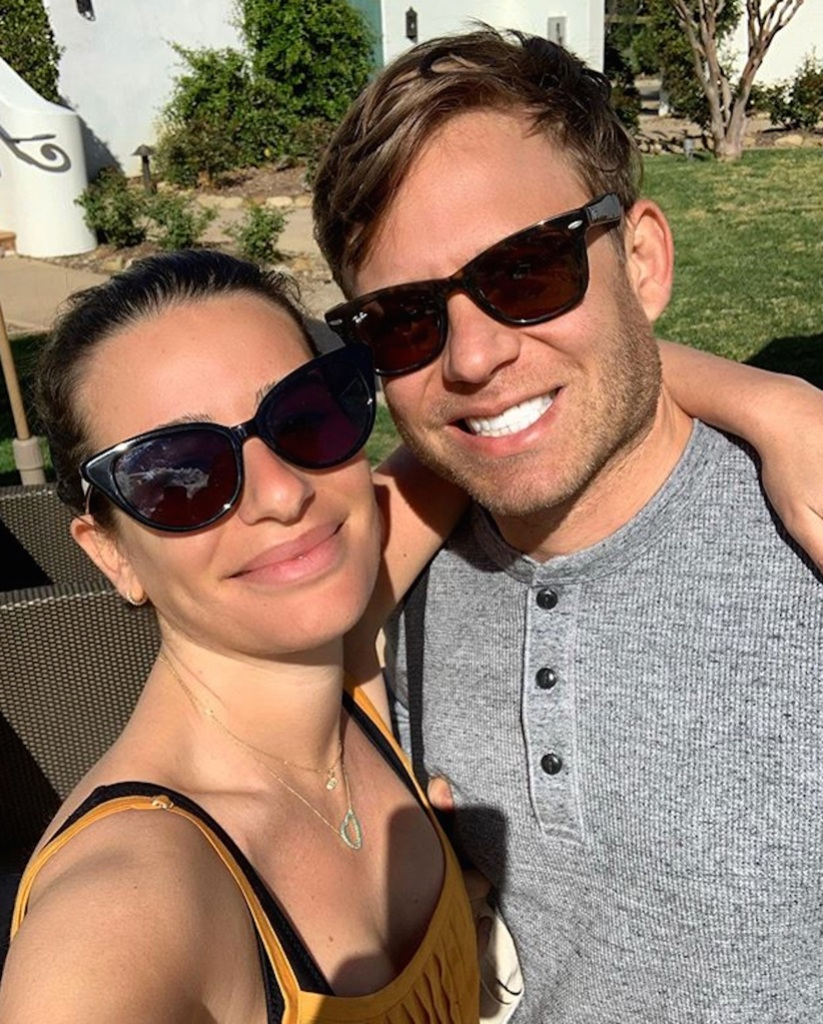 Lea Michele and Husband Zandy Reich taking a selfie