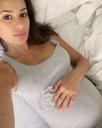 Lea Michele Baqby Bump Selfie