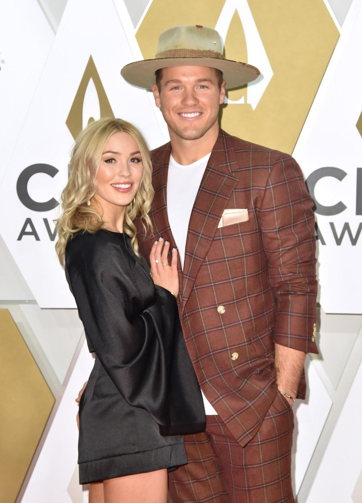 Bachelor Colton Underwood Wears Big Hat on Red Carpet With Ex Girlfriend Cassie Randolph