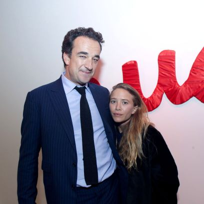 Mary Kate Olsen Wears Black Jacket and Hugs Ex Husband Olivier Sarkozy