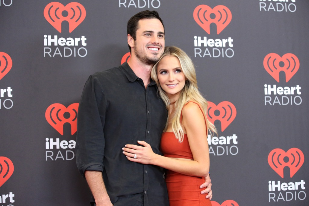 Bachelor Ben Higgins Smiles With Ex Fiance Lauren Bushnell