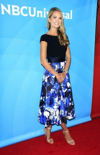 Southern Charm Cameran Eubanks Wears Flowered Skirt and Black Top