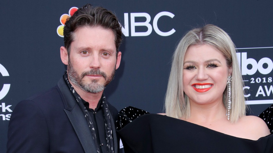 Kelly Clarkson Wears Black Dress and Red Lipstick with Husband Brandon Blackstock