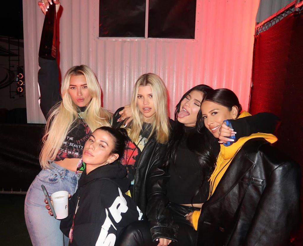 Sofia Richie, Kylie Jenner, Stassie Karanikolaou, Victoria Villarroel and Yris Palmer at Travis Scott's Astroworld Festival in Houston