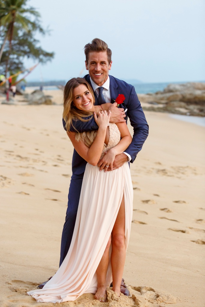 Bachelorette JoJo fletcher and Fiance Jordan Rodgers Smile After Getting Engaged in Thailand