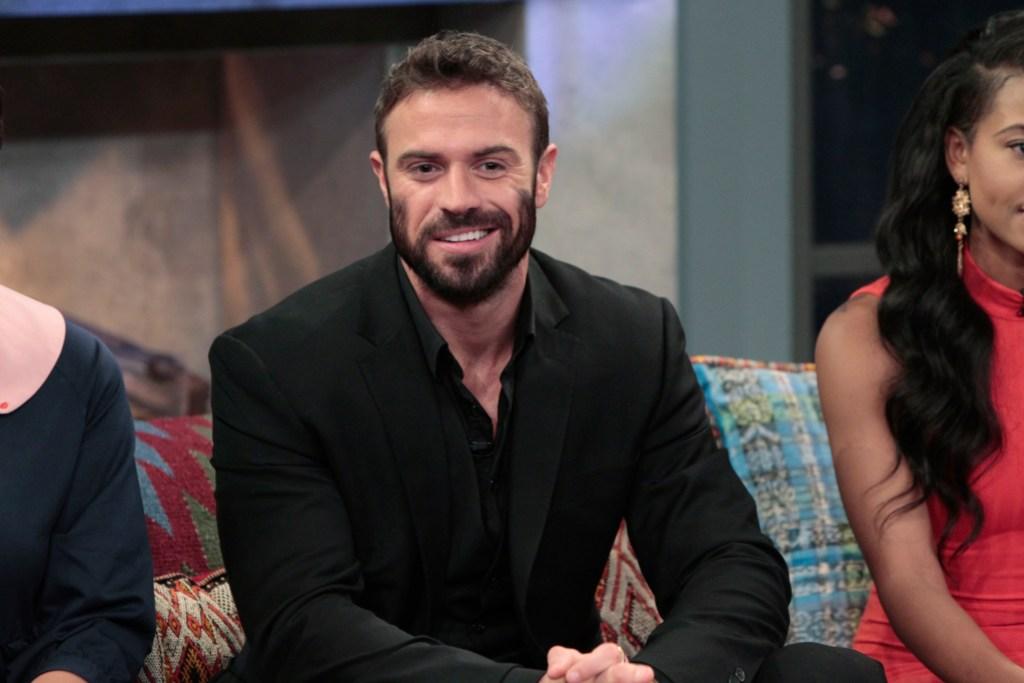 Bachelorette Contestant Chad Johnson Wears Black Suit