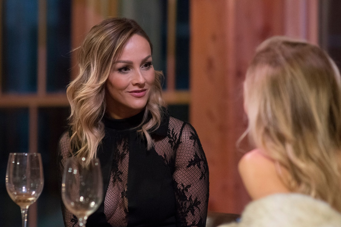 Bachelorette Clare Crawley Looks Serious on Bachelor Winter Games