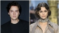 Cole Sprouse Wears All Black Suit and Kaia Gerber Walks the Runway