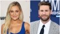 Kelsea Ballerini Wears Blue Jumpsuit Chase Rice Smiles in Grey Plaid Suit and Black Tie