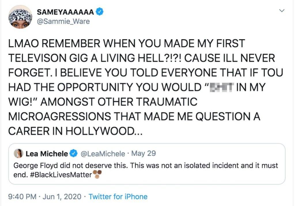 Lea Michele Responds to Samantha Marie Ware