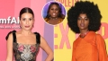 Inset Photo of Alex Newell Over Side-by-Side Photos of Lea Michelle and Samantha Marie Ware