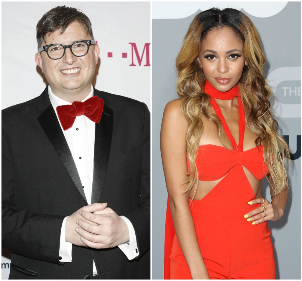 'Riverdale' Creator Roberto Aguirre-Sacasa Wears suit With Red Bow Tie Vanessa Morgan Smiles in Orange Cut Out Dress
