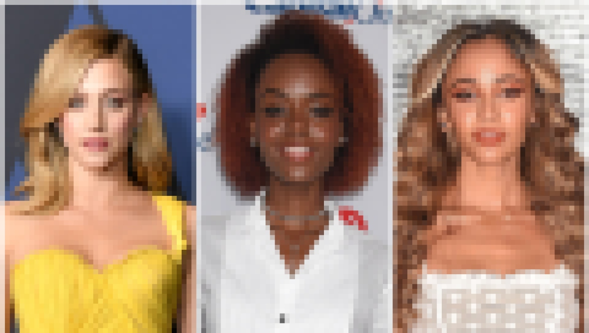 Riverdale's Lili Reinhart Wears Yellow One Shoulder Gown Ashleigh Murray Smiles in White Crop Top and Jeans Vanessa Morgan Wears Two Piece White Lace Dress