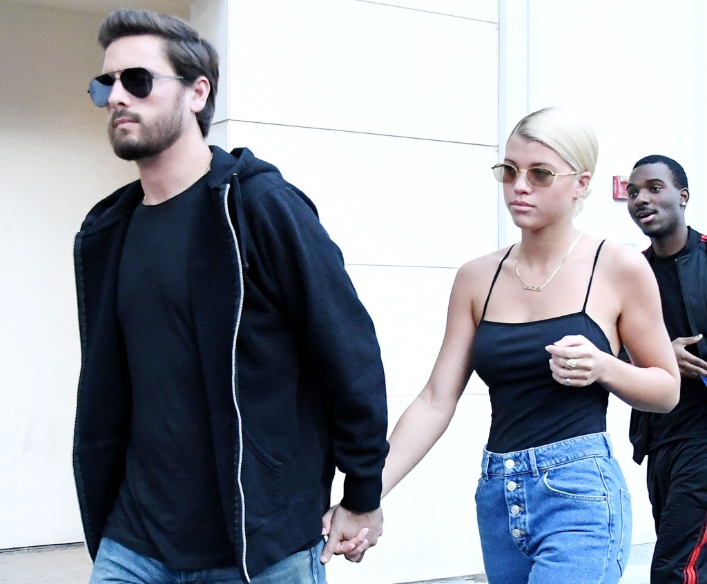 Scott Disick Leading Sofia Richie by the Hand