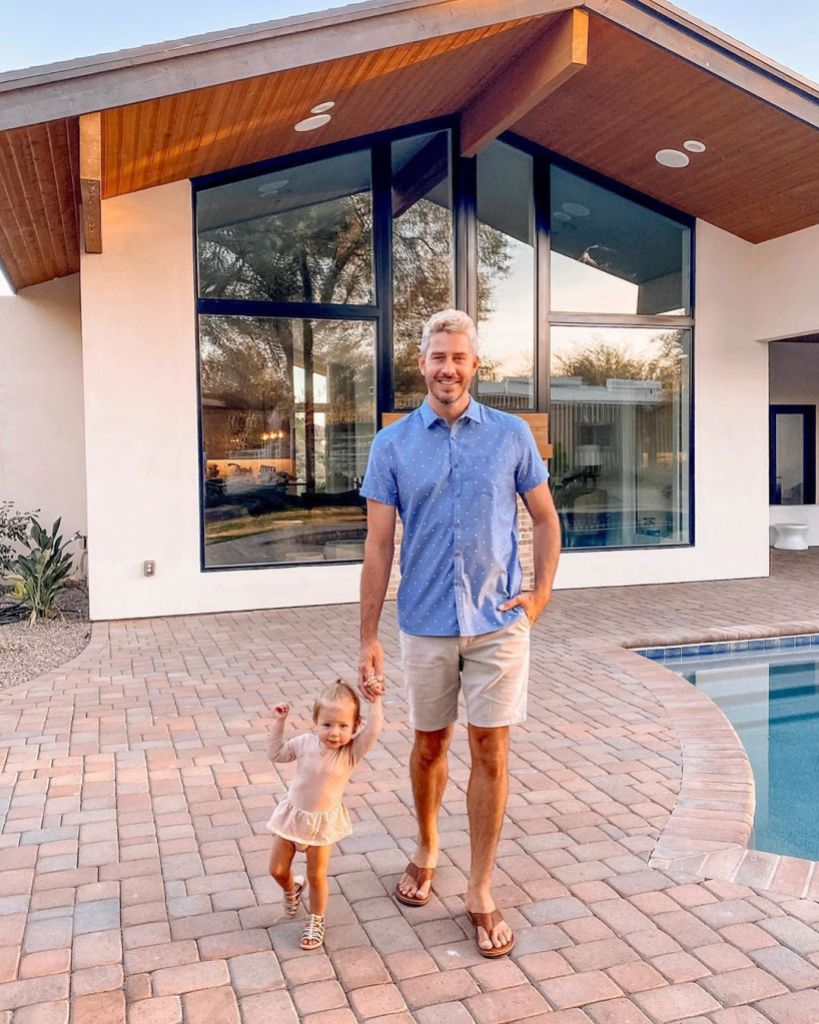 Bachelor Arie Luyendyk Holds Daughter Alessi's Hand at New House