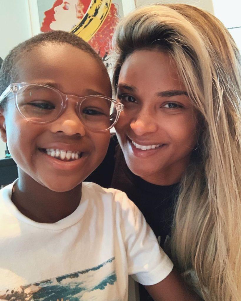 Pregnant Ciara Smiles With Son Future