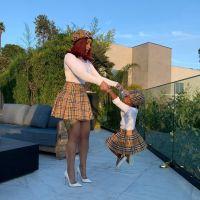 Cardi B Daughter Kulture Ciari Cephus Matching Outfits